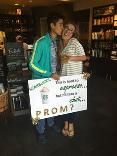 Grease inspired promposal great way to ask a girl to prom prom promposal idea for a girl who loves starbucks ccuart Gallery