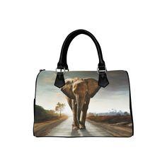 sold at @artsadd  : The #Elephant Boston #Handbag (Model 1621) - thanks to the customer!
