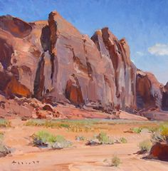 Midday, Monument Valley by Josh Elliott Oil ~ 12 x 12