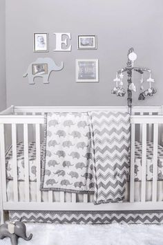 50 Adorable Decor Items For an Elephant-Themed Nursery Elephants have long been a source of inspiration for nursery themes and toddler room decor, whether the motif takes completely over or baby's room features one Toddler Room Decor, Baby Room Decor, Baby Boy Rooms, Baby Boy Nurseries, Babies Rooms, Baby Boy Themes, Neutral Nurseries, Elephant Nursery Boy, Elephant Crib Bedding