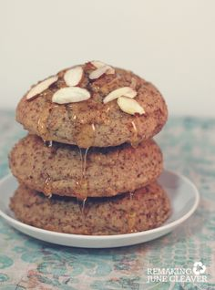 honey almond breakfast cakes. I just made these yesterday morning, they were so easy, delicious and not too sweet! GF