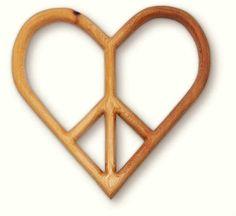 peace/love heart