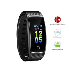 AOFIT 2019 Version Fitness Tracker Ultra-Long Battery Life Multi-Sport Modes Pedometer Smart Heart Rate IP67 Waterproof Color Screen Watch Women Men -- Want to know more, click on the image. (This is an affiliate link) Fitness Tracker Bracelet, Best Fitness Tracker, Smart Bracelet, Bracelet Watch, Fitness Trackers For Women, Heart Rate, Watch Women, Fun Workouts, Smart Watch