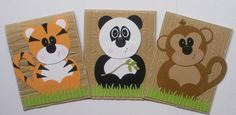 Zoo punch art - bjl Paper Punch, Punch Art, Kids Cards, Baby Cards, Look At This Photograph, Paper Art, Paper Crafts, Birthday Cards For Boys, Paper Piecing Patterns