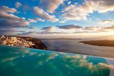 10 unbelievably spectacular clifftop hotels Cosmopolitan Suites Hotel Santorini, Greece