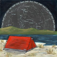 ** With the Sky... camping under the stars and constellations by OffTheMapArt...