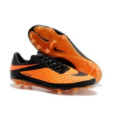 half off 85eac c150e Nike HyperVenom Phantom FG Men s Firm Ground Soccer Boots Orange Black  Cheap Soccer Shoes, Football