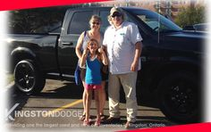 Richard, his wife and their granddaughter are excited about their new 2016 RAM truck. Thanks again and it was great working with you two.