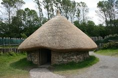 Reconstructed Round house at the Irish Heritage Park, #Wexford, #Ireland