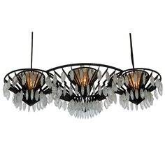 Rock Crystal Chandelier | From a unique collection of antique and modern chandeliers and pendants  at http://www.1stdibs.com/furniture/lighting/chandeliers-pendant-lights/