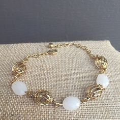 White & Gold Bracelet Handmade in Guadalajara MX 4 coats 18K Gold High quality jewelry Will not tarnish Save 30% when you buy a bundle Jewelry Bracelets