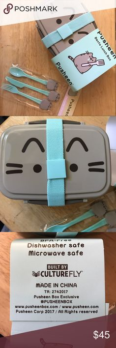 Pusheen Lunch Box set Exclusive Brand new! Got it from this year's Spring2017 pusheenbox. It's a perfect set for pusheen or cat lovers. 100% authentic of course. Price is firm. Pusheen Other