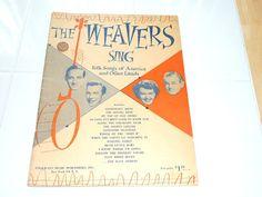 Sheet Music - The Weavers Sing Folk Songs of America by aLoveOfVintage on Etsy St G, Sheet Music, Singing, Folk, This Book, America, Vintage, Popular, Fork
