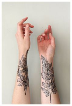 Leafy Skin Decals : temporary sleeve tattoos