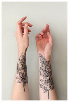 Leafy Skin Decals : temporary sleeve tattoos