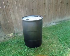 Picture of This 55 gallon drum will be the foundation of the bee hive.