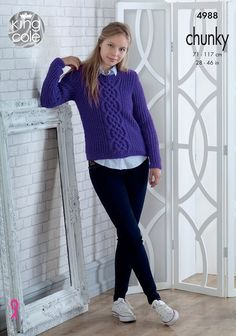 Sweater and Slipover in King Cole Big Value Chunky 4988