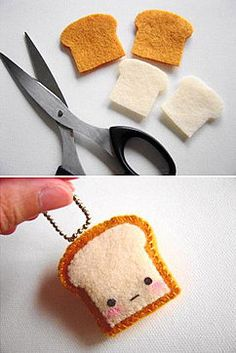 Felt Toast key ring