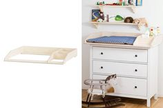 Wrapping attachment with compartment for IKEA HEMNES chest of