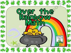 {FREE} March Activity Over the Rainbow Math