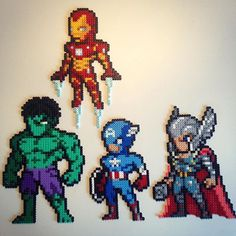 Avengers hama beads by Victor Sundman