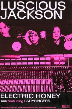 Luscious Jackson 1999 Electric Honey Pink Promo Poster Original  Link to Store: http://stores.ebay.com/Rock-On-Collectibles/Alternative-Rock-Posters-/_i.html?_fsub=10096486&_sid=70220124&_trksid=p4634.c0.m322