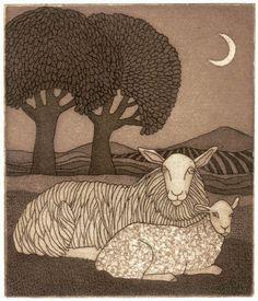 Bill Yardley - Sheep and trees