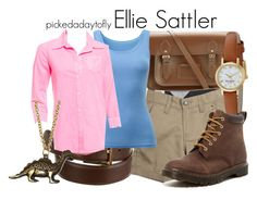"""Ellie Sattler"" by pickedadaytofly ❤ liked on Polyvore featuring Loro Piana, The Cambridge Satchel Company, Volcom, Uniqlo, Elizabeth and James, Kate Spade, Dr. Martens, Hannah Makes Things, jurassicpark and elliesattler"