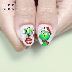 Make an original manicure for Valentine's Day - My Nails Disney Christmas Nails, Xmas Nails, Disney Nails, Christmas Nail Designs, Holiday Nails, Cute Acrylic Nails, Cute Nails, Pretty Nails, Nail Art Dessin