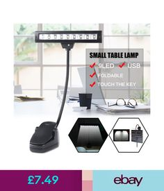 Lamps 9 Led Flexible Clip-On Orchestra Music Stand Led Light Bed Desk Lamp + Adapter #ebay #Home & Garden