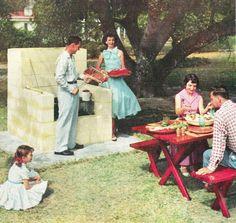 Backyard barbecue, retro style!