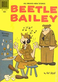Cover for Beetle Bailey (Dell, 1956 series) Best Comic Books, Vintage Comic Books, Vintage Cartoon, Vintage Comics, Classic Comics, Classic Cartoons, Beetle Bailey Comic, Charlton Comics, War Comics