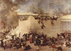 Destruction of the Temple in Jerusalem by Francesco Hayez depicts the destruction of the Second Temple by Roman soldiers. Description from katana17.wordpress.com. I searched for this on bing.com/images