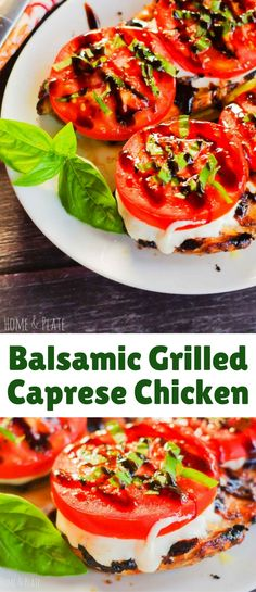 Tired of burgers for dinner? Enjoy summer's tomato bounty with this tasty and juicy grilled chicken caprese.