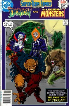 Super-Team Family: The Lost Issues!: The Demon and The Legion of Monsters Marvel Comic Universe, Marvel Comic Books, Marvel Vs, Comic Book Characters, Comic Character, Comic Books Art, Avengers Comics, Dc Universe, Dc Comics