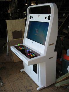 Japanese Style handmade sit down arcade machine. by tonberryhunter.deviantart.com on @DeviantArt