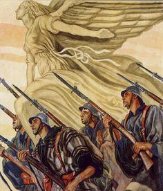 Spain - 1936-39. - GC - poster - autor: Carlos Saenz de Tejada.