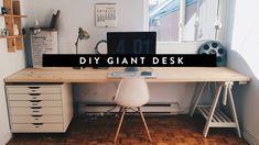 DIY GIANT HOME OFFICE DESK