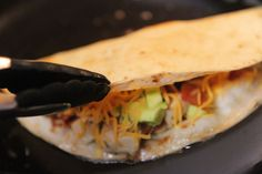 Cheesy Chicken, Bacon, & Avocado Quesadillas - Tested with thumbs up