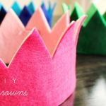 DIY Felt Crown. I'm sure this will make DD feel like a queen on her birthday