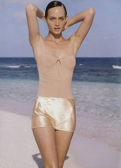 Amber Valletta photographed by Herb Ritts for Vogue, 1994.