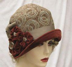Cloche Hat 1920's Art Deco via  www.etsy.com
