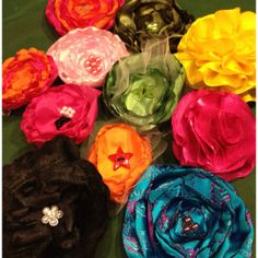 Hand made flower head bands and barrettes!!!