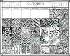 Free Zentangle How To Patterns | Zentangle: Daily Zentangle