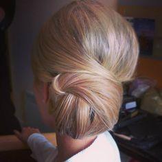 wedding hair, but centered