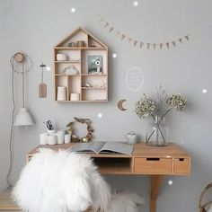 What a pretty child's study space ♡
