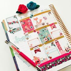 planningfancy: I am positively in love with this @twolilbees Fall fox set! And it is a perfect match to @theplannersociety Washi from the October kit, what more can a planner girl ask!