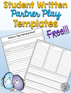 FREE! Teach your 1st 2nd or 3rd grade students how to write their own short reader's theater play scripts! All templates included to ensure that your class play will be fun and successful.