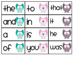 Whooo Wants Sight Words? First 100 FRY words FREE