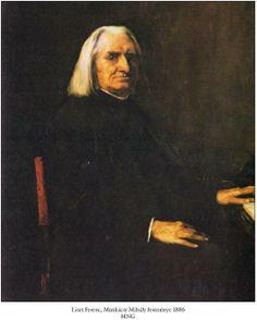 Franz Liszt - Gemälde von Mihály Munkácsy (1886). Hector Berlioz, Bela Bartok, Gustav Mahler, Victor Vasarely, Sebastian Bach, The Selection, Portraits, Artist, Painting
